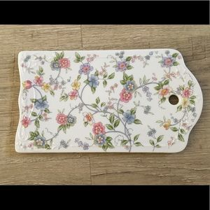 Beautiful ceramic floral tray / platter
